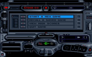 tunnels of armageddon dos screenshot menu